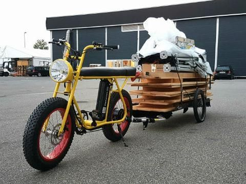 Unimoke Cargo Bike Cool Urban E Bikes Unimoke Super 73