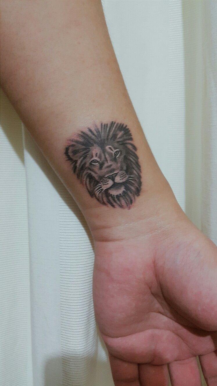 Lion Tattoo Realistic Tattoo Wrist Tattoo by Tamara