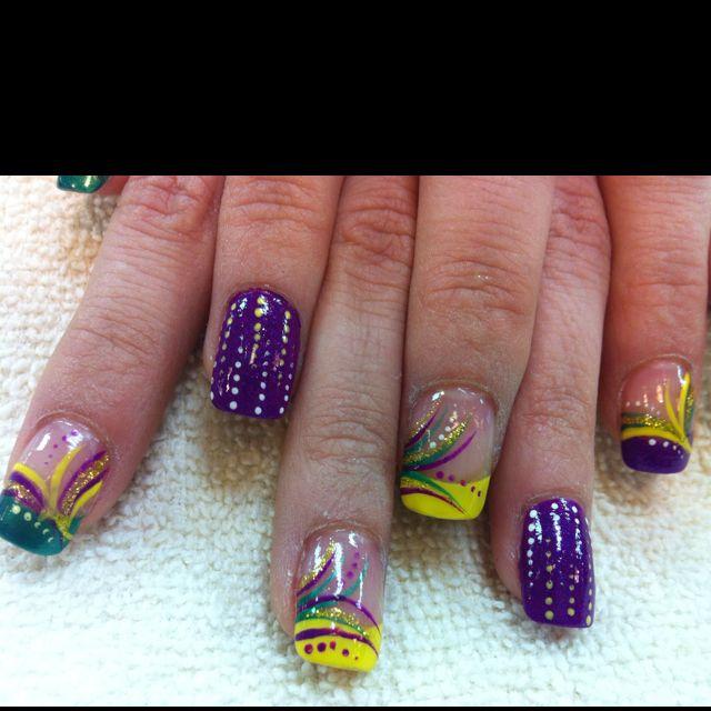 Mardi gras nails Www.facialnails.stnpro.com | Nail art design ...