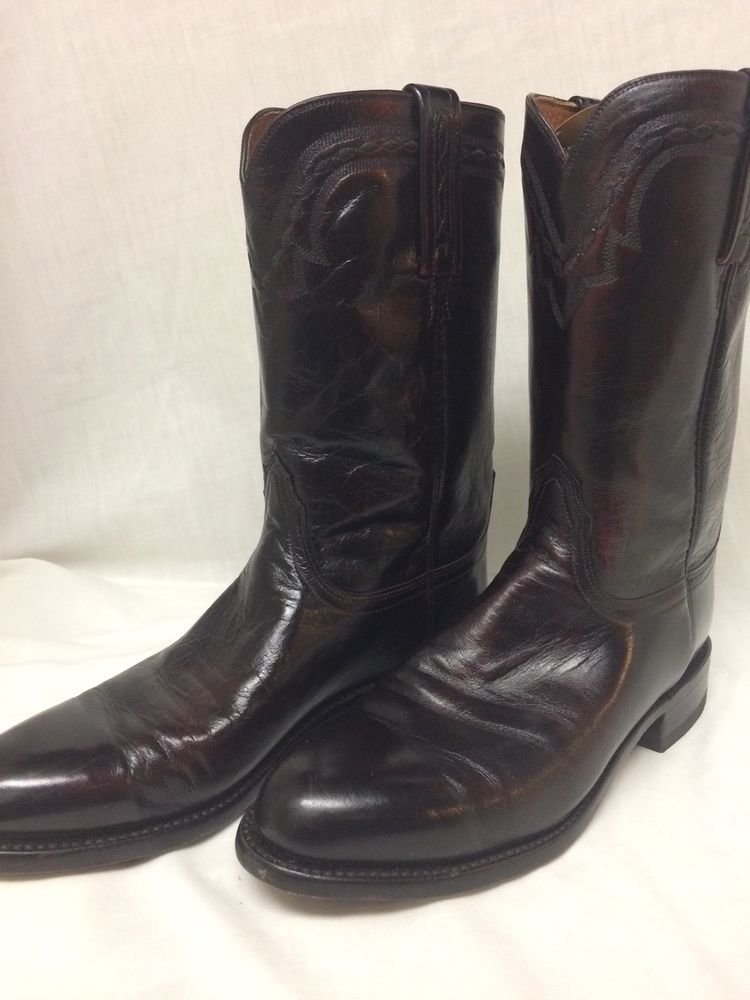 5bb83b14dda Men's LUCCHESE 2000 T0012C2 KANGAROO Leather COWBOY BOOTS Size 9 D ...