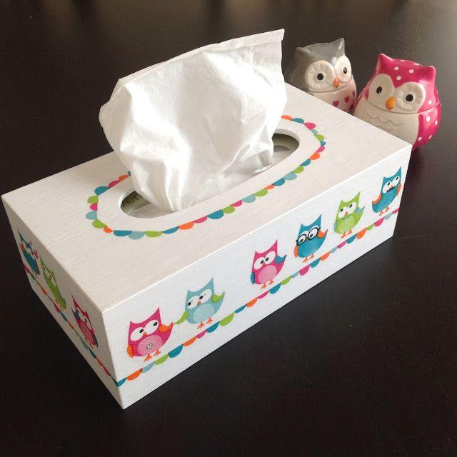 conception adroite dernière remise choisir le dernier DIY collage de serviettes | KUTU Bym | Boite a mouchoir ...