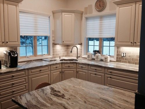 Best Fantasy Brown Tan Subway Tile Backsplash 2 Kitchen 400 x 300