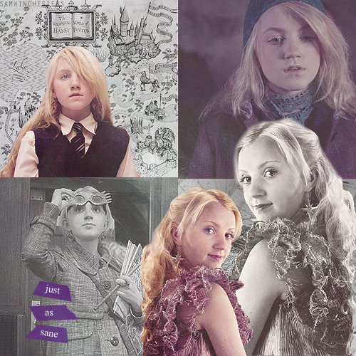 JK Rowling revealed to Evanna Lynch that Luna is the most familiar and most comfortable with death out of all the characters. Even Dumbledore.