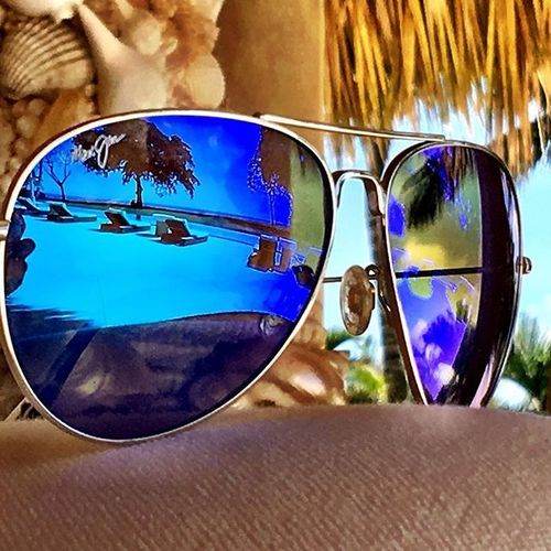85d4071f564 Maui Jim Mavericks sunglasses with blue mirrored lenses. Find them at  http