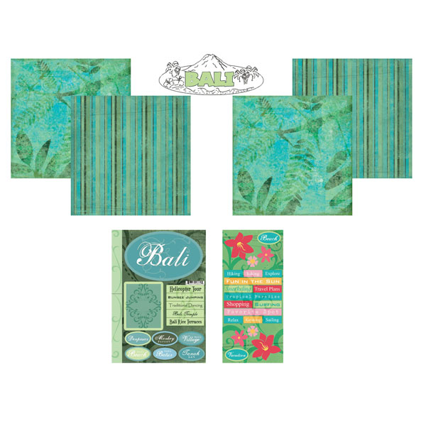 Scrapbook Customs Aruba Getaway Scrapbook Kit