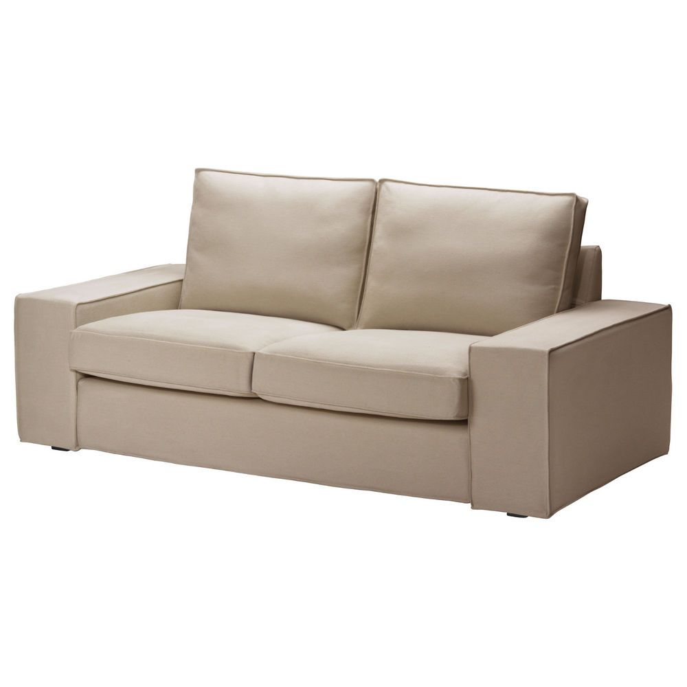 Ikea Kivik Loveseat 2 Seat Sofa Replacement Cover Slipcover Dansbo Beige Sofa Covers Loveseat