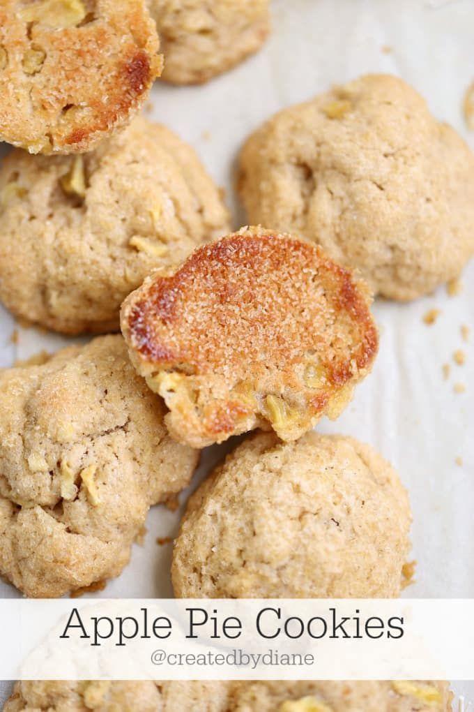 apple-pie-cookies-from-www.createdbydiane.com #cookies #apples #dessert #summer #BBQ #July4th