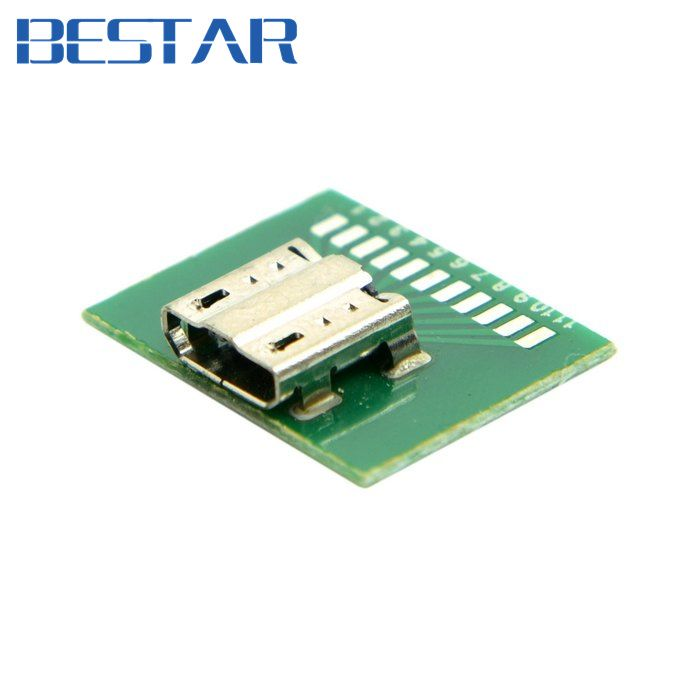 10pcs Micro Usb 11pin Female Socket Receptacle Connector Board Mount Smt Type With Pcb Micro Usb Usb Electronic Accessories