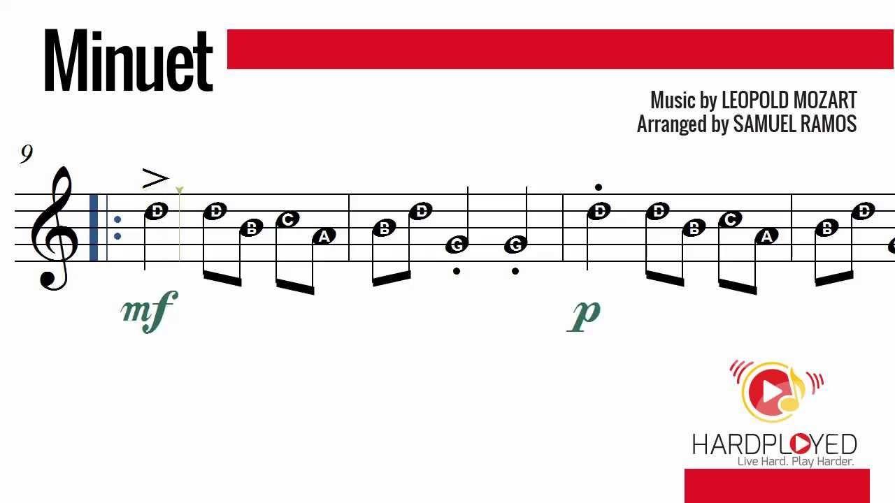 Minuet  Leopold Mozart RecorderFlute  Teacherpayteachers Http