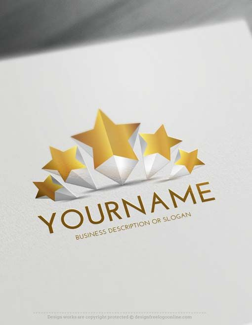 Free 3d logo maker create 5 stars logo design online 3d logo free 3d logo maker 5 stars logo design reheart Image collections
