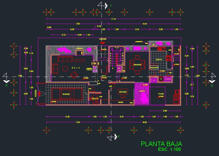 planos de casas modernas dwg