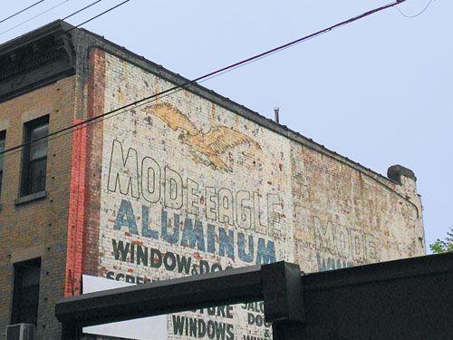 Mode Eagle Aluminum Window U0026 Door Mfrs. Ghost Sign In Brooklyn