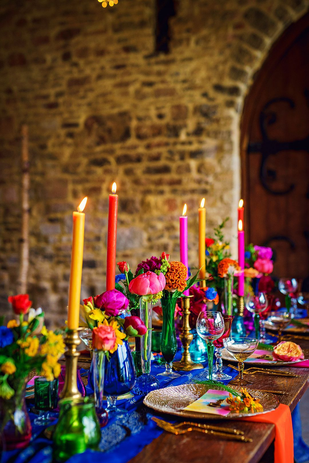 Festival Wedding Inspiration | A Bright and Colourful Bridal Shoot | Festival Brides