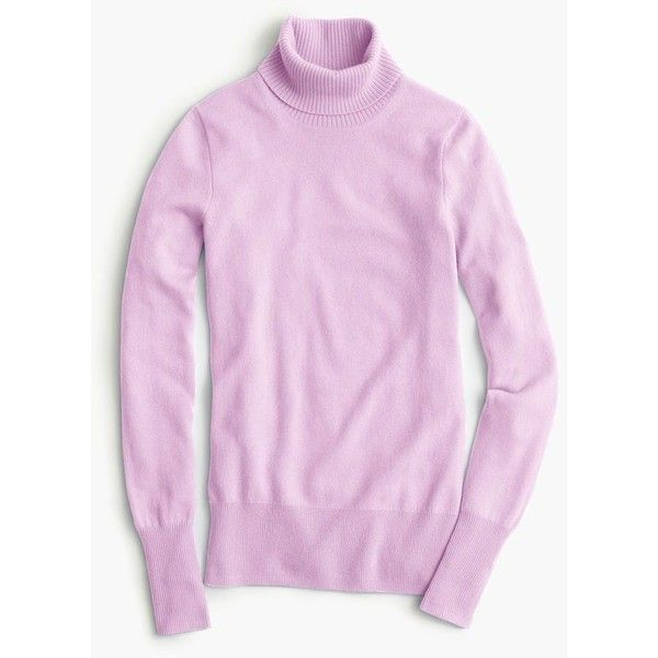J.Crew Collection Cashmere Turtleneck Sweater ($300) ❤ liked on Polyvore featuring tops, sweaters, turtle neck sweater, cashmere tops, cashmere sweaters, cashmere turtleneck sweaters and pink turtleneck