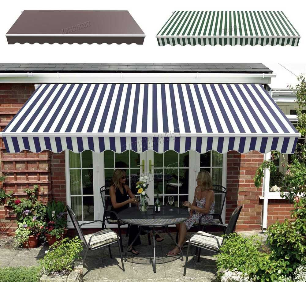 Westwood Retractable Awning Manual Aluminium Canopy Patio Sun Shade Shelter Patio Sun Shades Patio Shade Patio Canopy