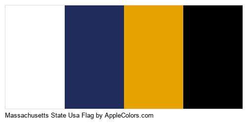 Country Flag State Massachusetts Usa State Flags #ffffff #1f2c5c #e6a300 #000000