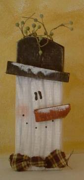 love this snowman...2 x 4