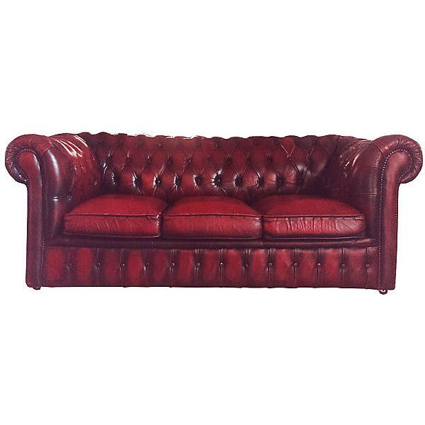 Wondrous Pre Owned 1920S English Oxblood Chesterfield Sofa 3 295 Cjindustries Chair Design For Home Cjindustriesco