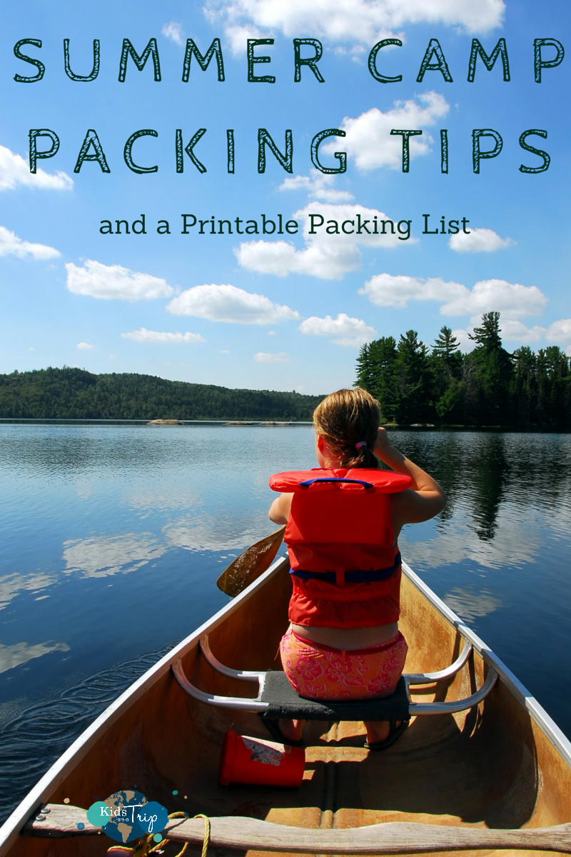87390abcbc36 Are your kids heading off to summer camp? Here are tips for what to pack  plus a printable packing list! | Kids Are A Trip