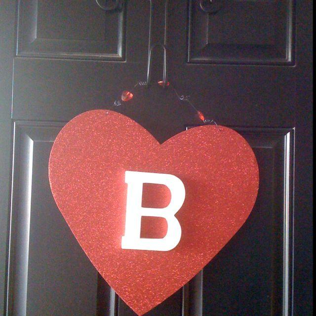 Monogram V-day door hanger