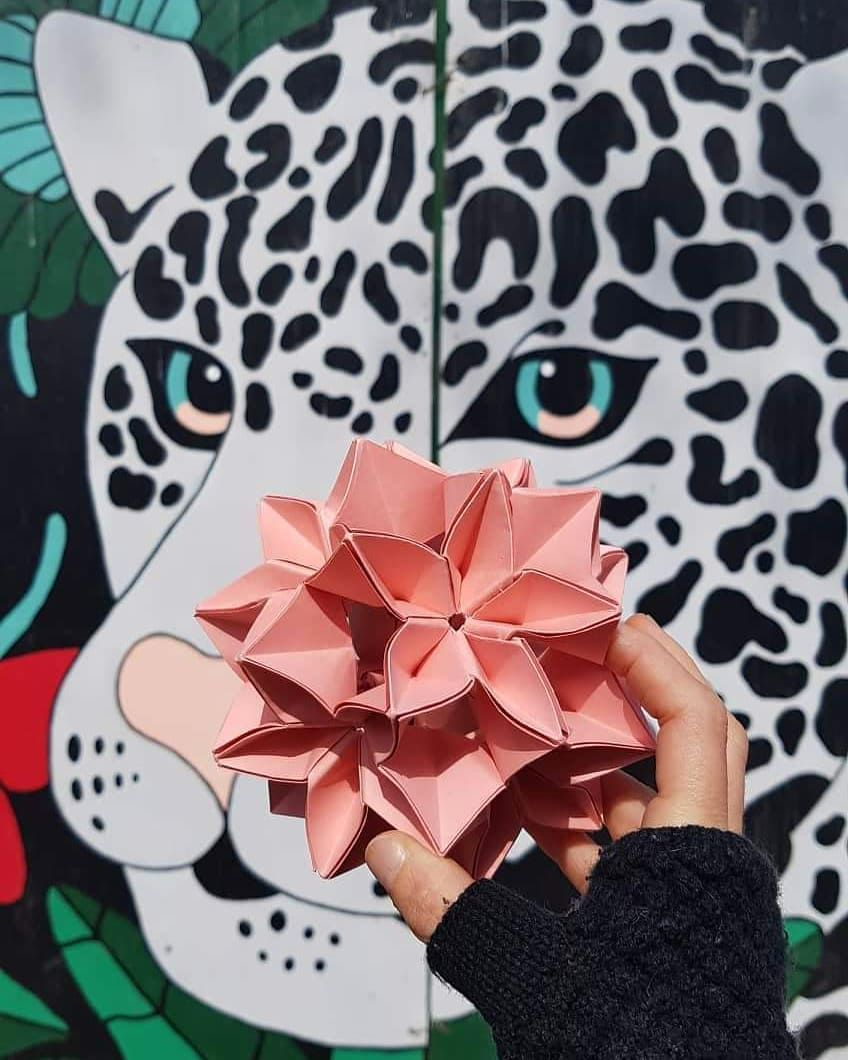 A B R E L O S O J O S Origami Handwork Arte Mural Laurariolfi Yaguarete Jaguar M A B R E L O S O J O S Origami Tokyo Cherry Handwork