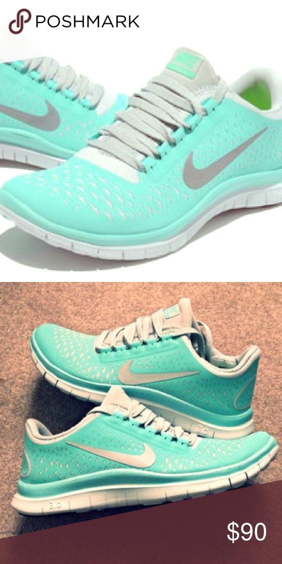 Tiffany Blue Nike Free Runs 3.0 V4 Tiffany Blue Nike Free Runs 3.0 V4  (never worn 800f087eb312