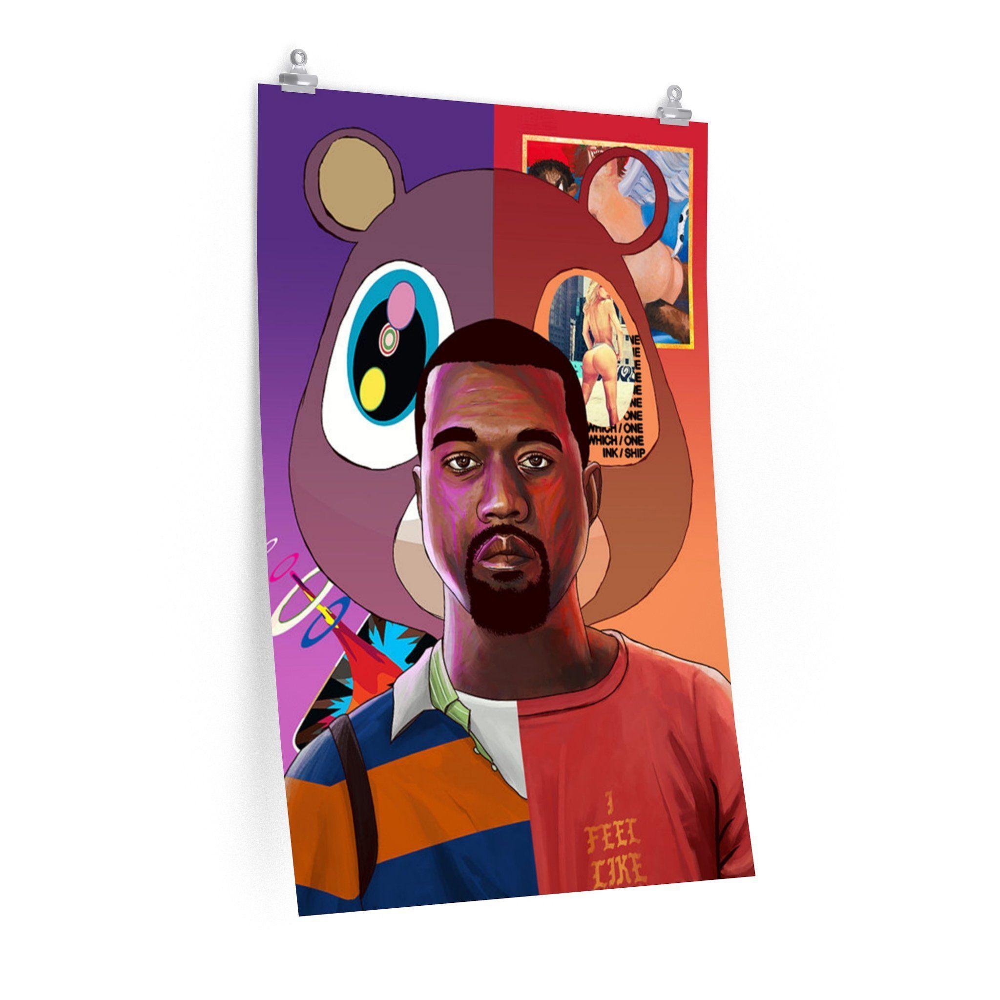 5278e4bd076fa Kanye West Poster | Products | Kanye west, Art, West art