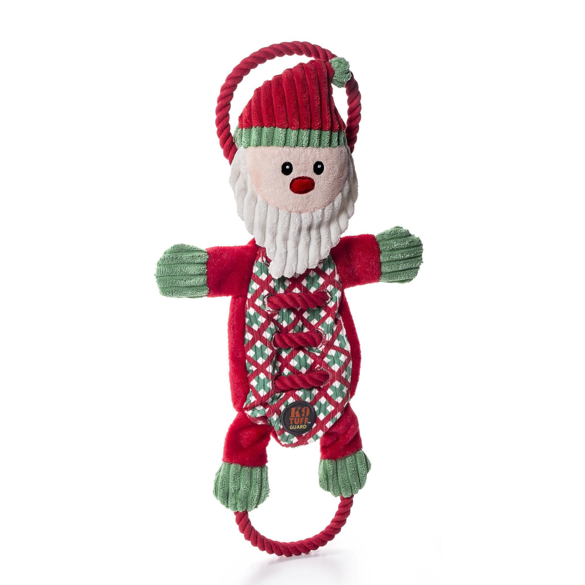 Christmas Ropes A Go Go Santa Dog Toy Dog Toys Interactive Dog