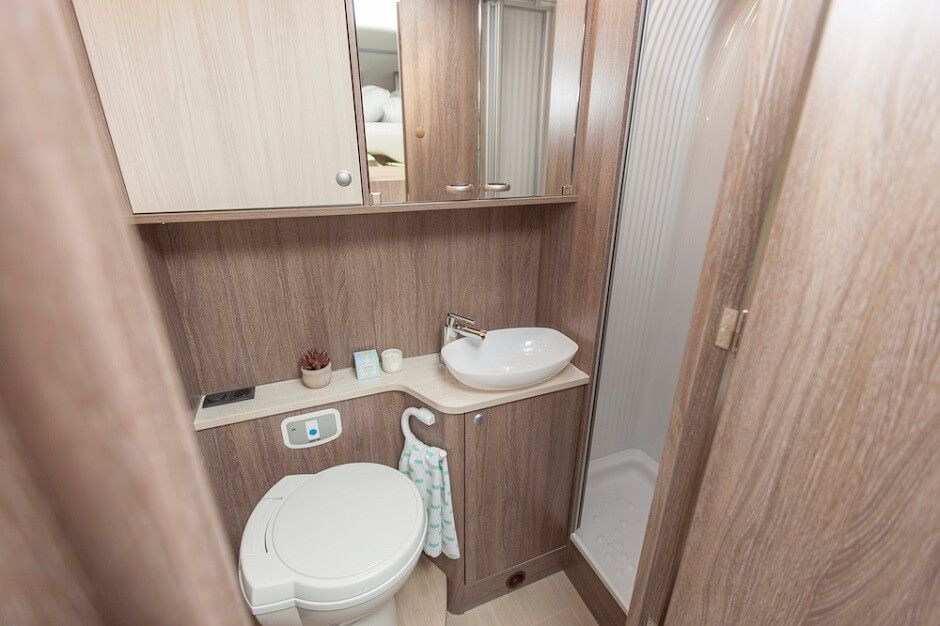 Inside The Lyseo It Luxury Motorhome For Saleious Bathroom With Loads Of Storage