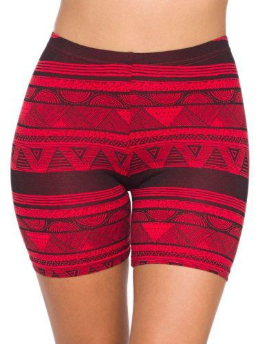 American Apparel Printed Cotton Spandex Jersey Cycle Short - Red Black Afrika / S - http://ridingjerseys.com/american-apparel-printed-cotton-spandex-jersey-cycle-short-red-black-afrika-s/