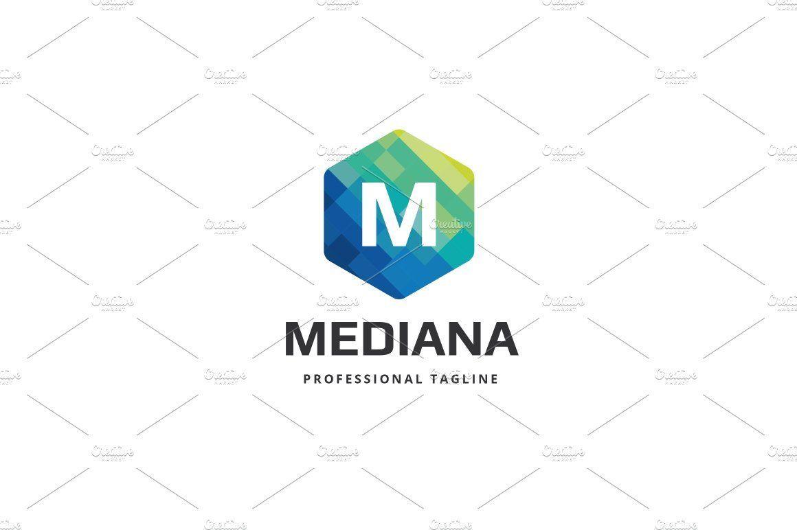 Mediana Letter M Logo Monogram Logo Lettering