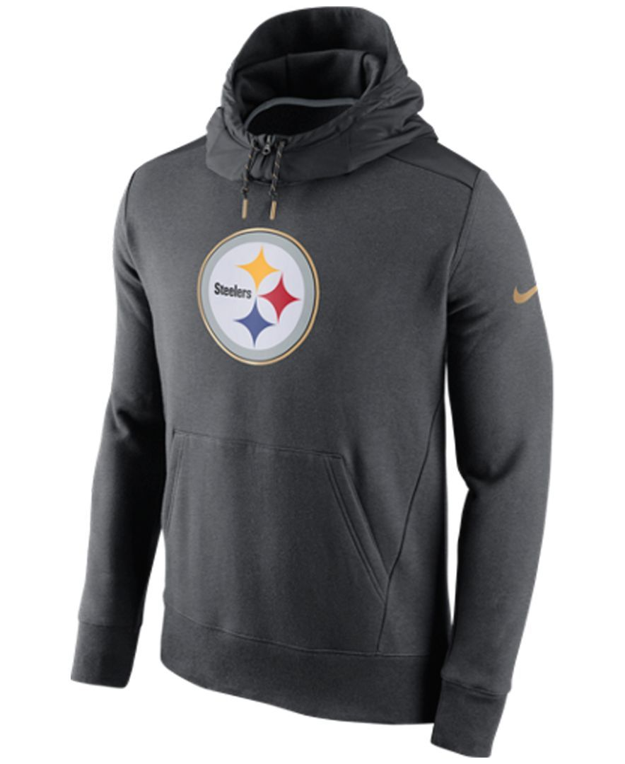 new style 5a9ff b72c2 Nike Men s Pittsburgh Steelers Champ Drive Hybrid Hoodie