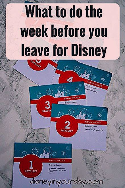 What to do the week before you leave for Disney + giveaway - Disney in your Day