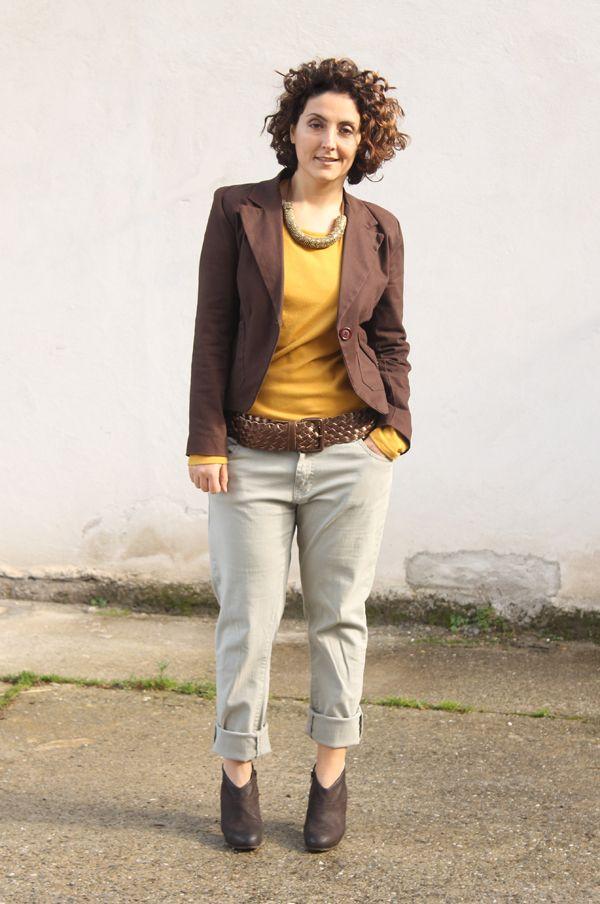 curvy boyfriend jeans mustard hat   BEDİ   Stile di moda e