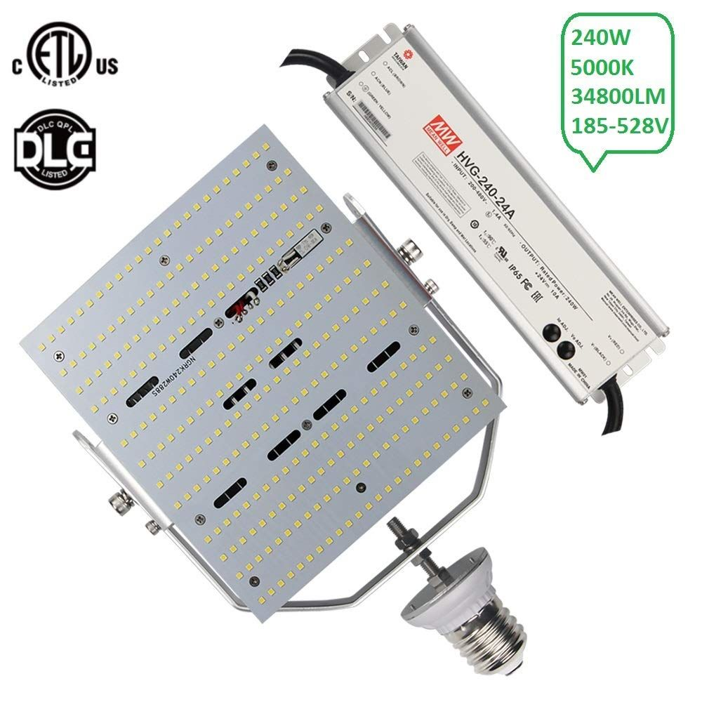 Ngtlight 480v 240w Led Retrofit Panels Replace 1000watt Hps Shoebox E39 Mogul Base 480 Volt Street Parking Parking Lot Lighting Led Street Lights Street Light