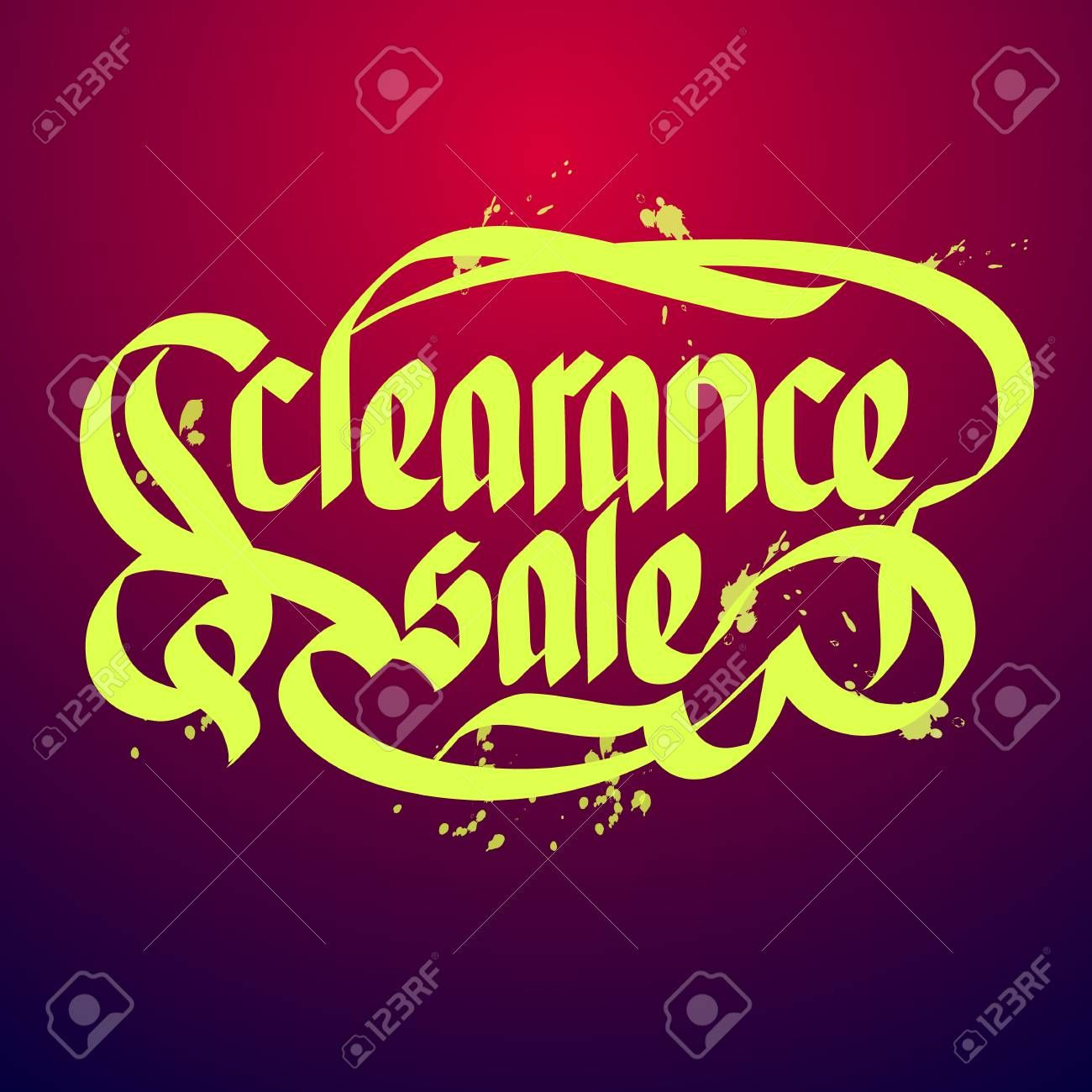 Clearance Sale Typographical Concept On Gradient Background Flat Vector Illustration Sponsored Typograp Vector Illustration Neon Signs Gradient Background