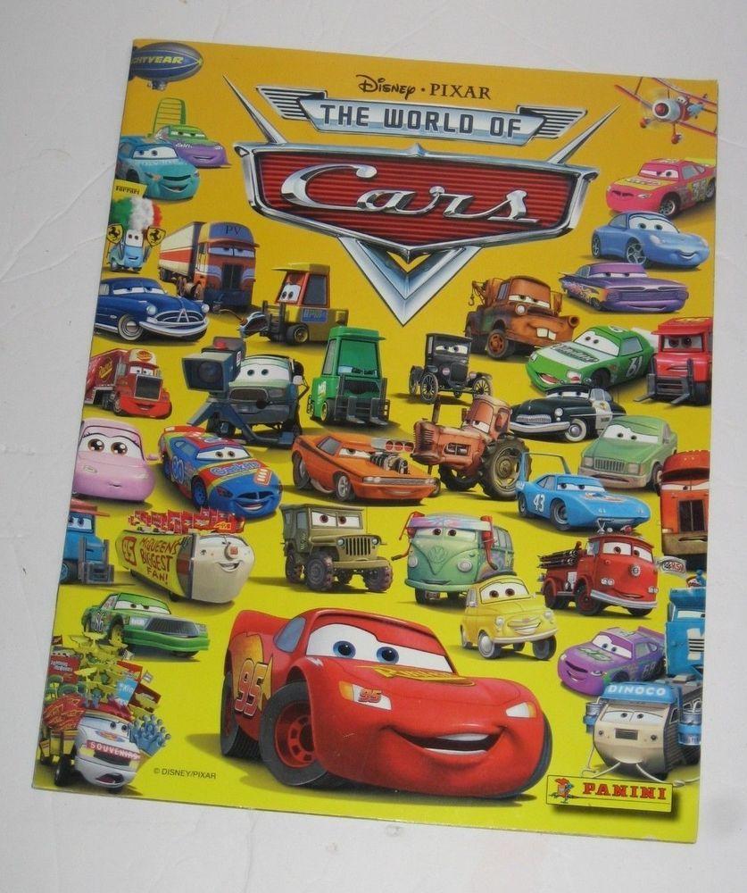 Panini Disney World Of Cars Sticker Poster Book Pixar New Panini Pixar Disney World Car Stickers [ 1000 x 837 Pixel ]