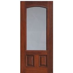 2 Panel 3 4 Arch Lite Privacy And Clear Lites Fiberglass Doors Exterior Doors Fiberglass Entry Doors Fiberglass Door Exterior Doors
