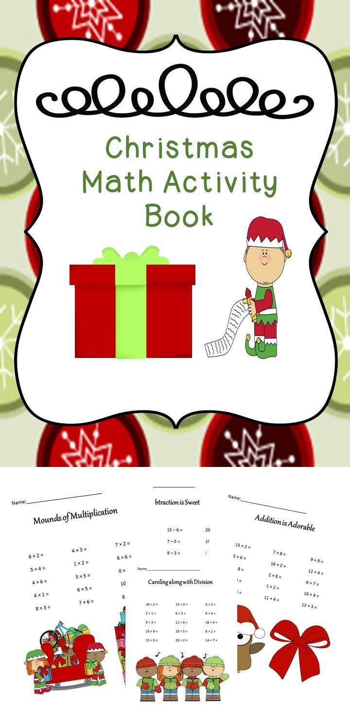 Math Christmas Activity Book | Christmas maths, Primary classroom ...