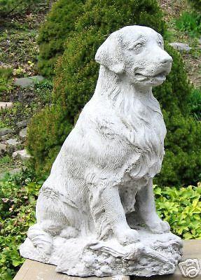 Concrete Golden Retriever Dog Statue Dog Statue Dogs Golden