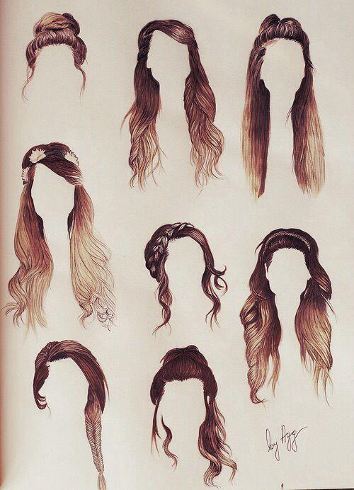 peinados dibujados