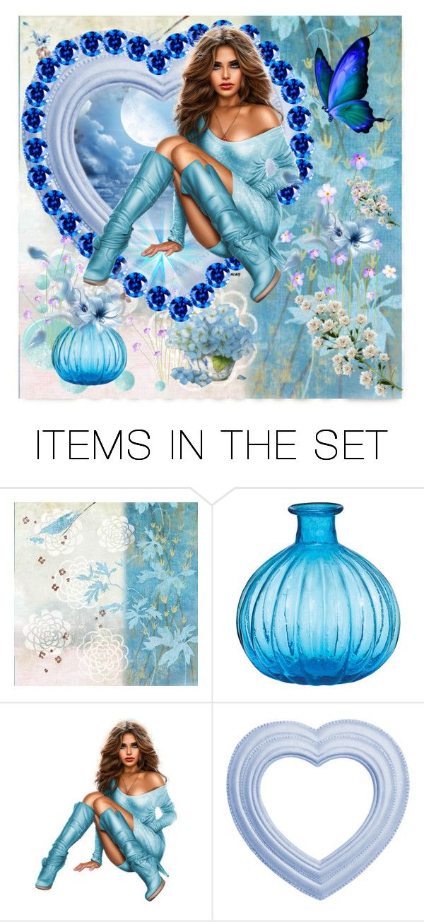 """""""Blues Power"""" by jeannierose ❤ liked on Polyvore featuring art"""