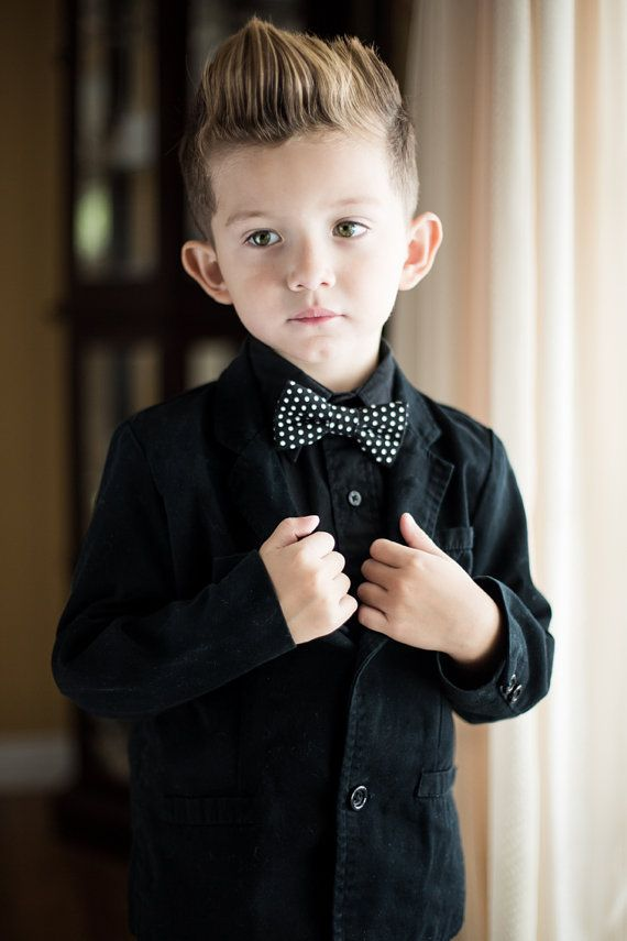 a82049346d1 baby toddler kid boys black white polka dot bow tie bowtie tuxedo  photography prop on Etsy