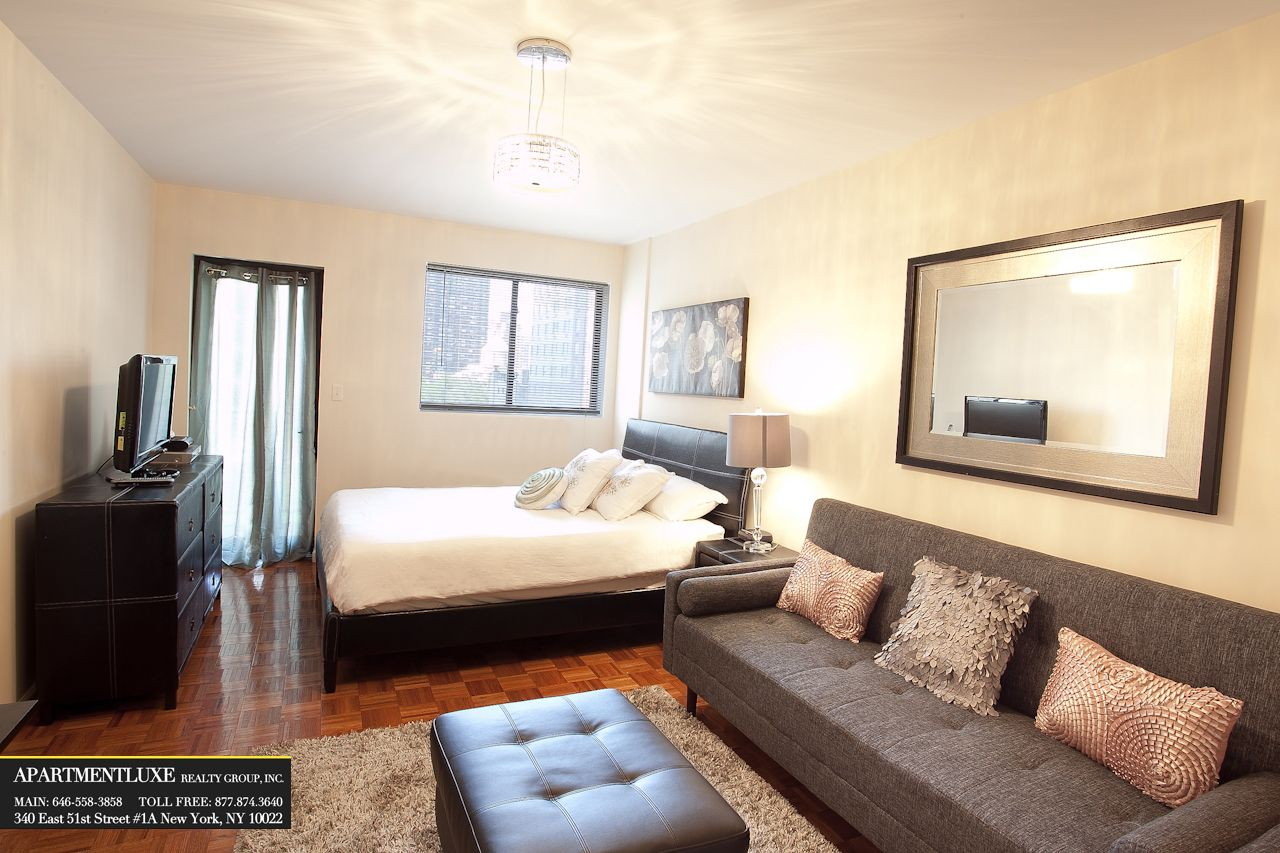 Studio apartment beautifully furnished studio apartments in nyc by apartmenluxe studio - Decorate bedroom apartment ...