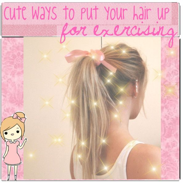 requested: cute ways to put your hair up while exercising   Hair ...