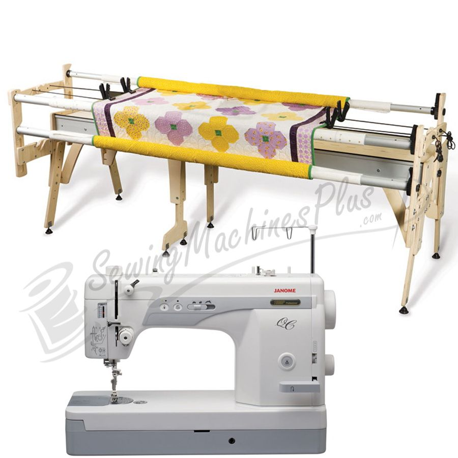 Janome 1600P-QC Sewing Machine w/ Grace Queen Quilting Frame | Baby ...