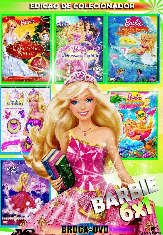 Colecao Barbie 6x1 Princesas Barbie Colecao Barbie