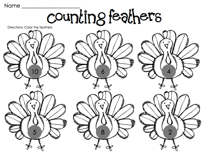 thanksgiving art projects for preschoolers – Free Printable Thanksgiving Math Worksheets