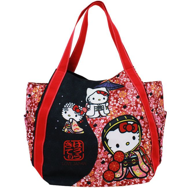 7d2b24adeacf Sanrio Hello Kitty Japanese Pattern Print Bag Kitty x DEARISIMO Cherry  Blossom