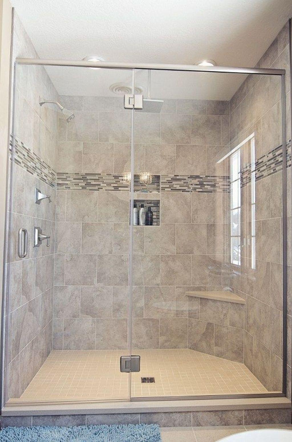 34 Lovely Bathroom Ceramic Tile Ideas You Should Copy Pimphomee In 2020 Bathrooms Remodel Restroom Remodel Bathroom Remodel Shower